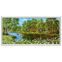 Картина 'Ромашки у озера' 33х70(36х73) см