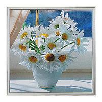 Картина 'Ромашки в вазе' 53*53 см