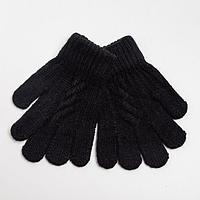 Перчатки детские, цвет чёрный, размер 16 (3-6 лет)