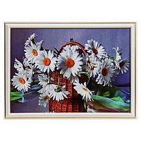 Картина 'Ромашки в корзинке' 28х38 см