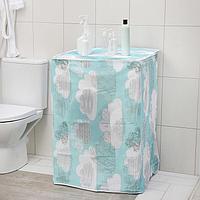 Чехол для стиральной машины с вертикальной загрузкой Доляна, 59x55x86 см, PEVA, цвет МИКС