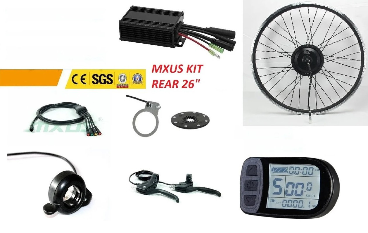 "Эл. набор. Мотор-колесо MXUS,  36 V 350 W бесщёточный.  KT-LCD 5. Обод 26 "". Заднее."