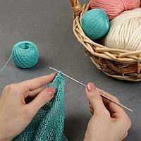 Крючок для вязания, с тефлоновым покрытием, d 2,5 мм, 15 см