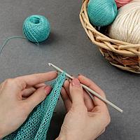 Крючок для вязания, с тефлоновым покрытием, d 4,5 мм, 15 см