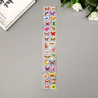 Наклейка пластик 'Панды/Бабочки' МИКС 29х5,5 см (комплект из 20 шт.)