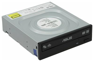 Оптический привод DVD±R/RW,±R9, CD-R/RW, ASUS, DRW-24D5MT, SATA, black, oem