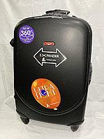 """Большой пластиковый дорожный чемодан на 4-х колесах"""" Ambassador"""". Высота 79 см, ширина 49 см, глубина 29 см., фото 1"""