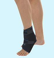 Бандаж неопреновый жесткий на голеностопный сустав с пластиковыми вкладками VIZOR