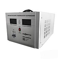 Стабилизатор напряжения сервоприводный напольный, однофазный, двойной цифровой Magnetta, IDR-8000VA