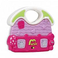 PITUSO Развивающая игрушка МУЗЫКАЛЬНЫЙ ДОМ (розовый) (свет,звук) 12,5*11,5*3,5 см (в кор.96шт)