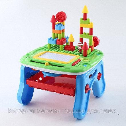 PITUSO Развивающий столик 2в1 СТРОИТЕЛЬ (свет,звук) 36*39*18 см (в кор.6 шт)