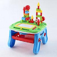PITUSO Развивающий столик 2в1 СТРОИТЕЛЬ (свет,звук) 36*39*18 см (в кор.6 шт), фото 1