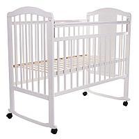 PITUSO Кровать детская NOLI МИШУТКА  колесо-качалка с наклад. опуск.планка Белый, фото 1