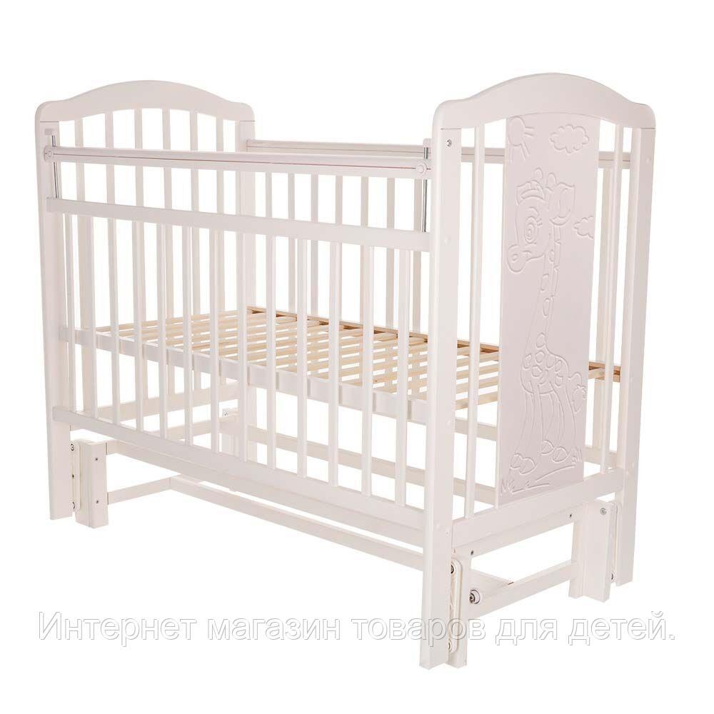PITUSO Кровать детская NOLI ЖИРАФИК  маятник универсальный с накладкой Белый