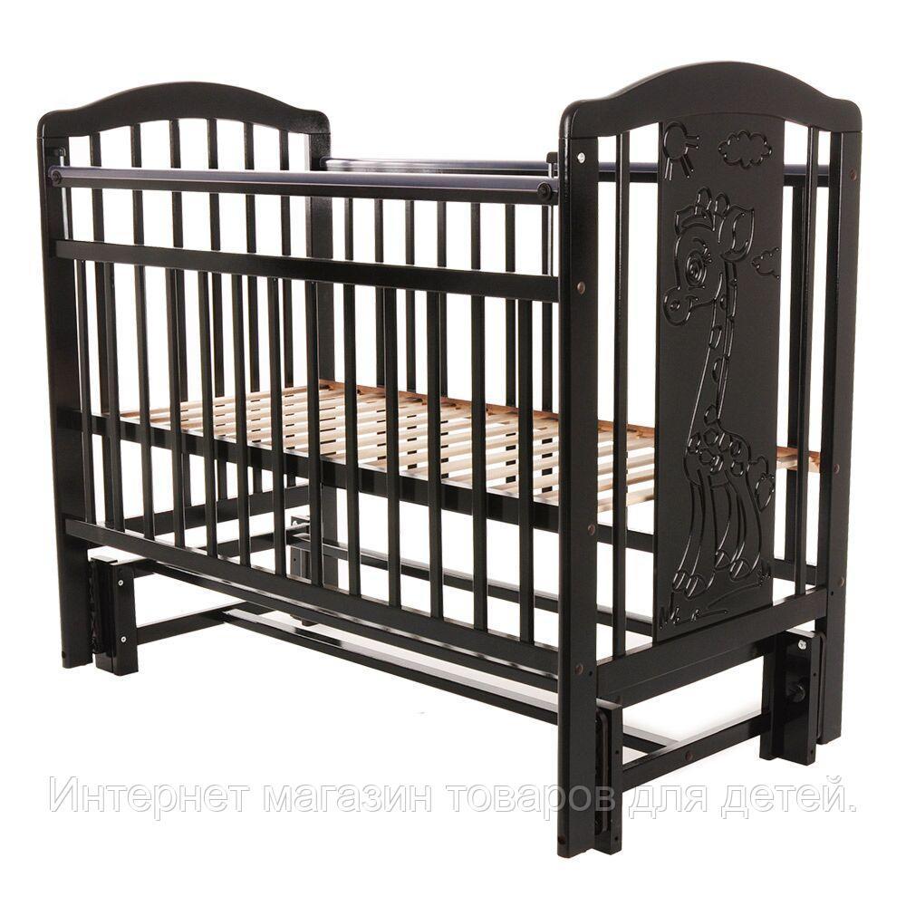 PITUSO Кровать детская NOLI ЖИРАФИК  маятник универсальный с накладкой Венге