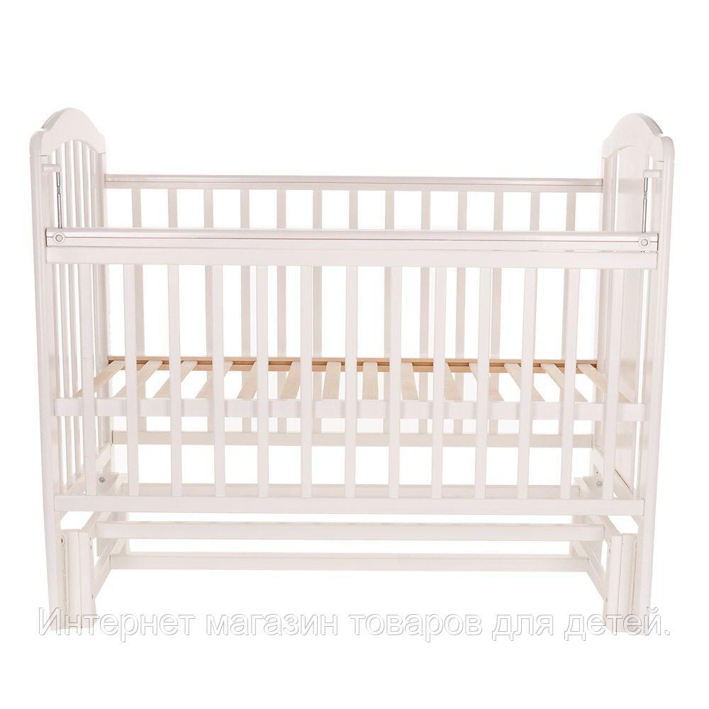 PITUSO Кровать детская NOLI МИШУТКА  маятник универсальный с накладкой Белый