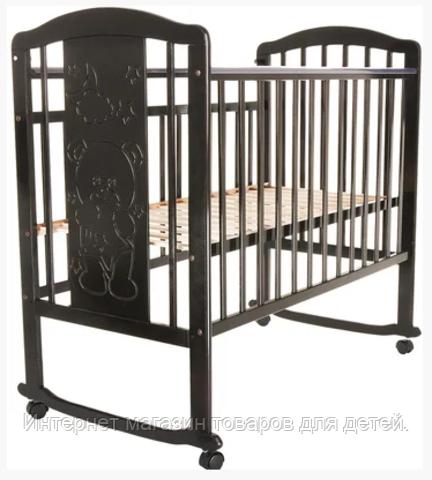 PITUSO Кровать детская Noli Мишутка маятник универсальный с накладкой Венге