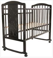 PITUSO Кровать детская Noli Мишутка маятник универсальный с накладкой Венге, фото 1