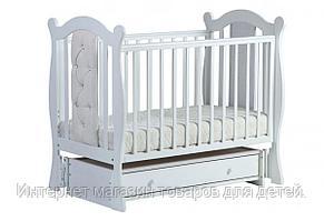 ЛЕЛЬ Кровать детская КУБАНОЧКА-9 универсальная с кожаными вставками Белый