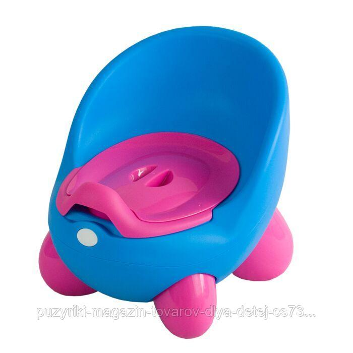 PITUSO Детский горшок ЛУНОХОД Голубой BLUE (малинов.ножки) 30*27*28,5 см
