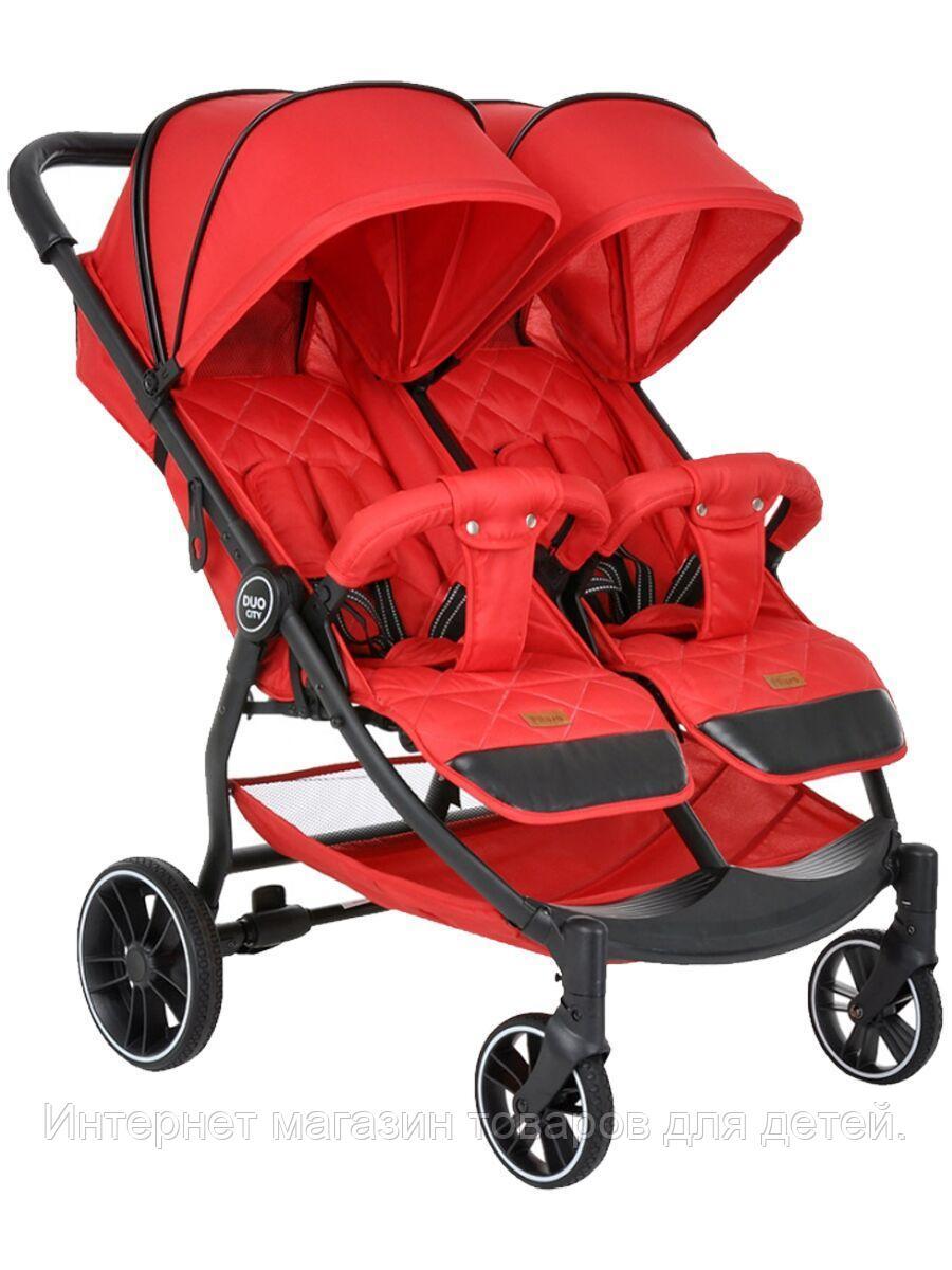 PITUSO Коляска детская DUOCITY для двойни (прогулочная), RED/Красный