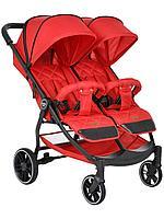 PITUSO Коляска детская DUOCITY для двойни (прогулочная), RED/Красный, фото 1
