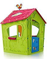 KETER Игровой Дом Magic Волшебный с петушком, Салатовый/малиновый Green/Violet (110*110*146h)