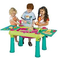 KETER Стол CREATIVE для детского творчества и игры с водой и песком + 2 табуретки (79x56x50h)