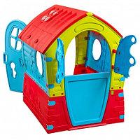 PALPLAY Игровой домик Лилипут Красный-зеленый-голубой/Маян (95х90х110h)