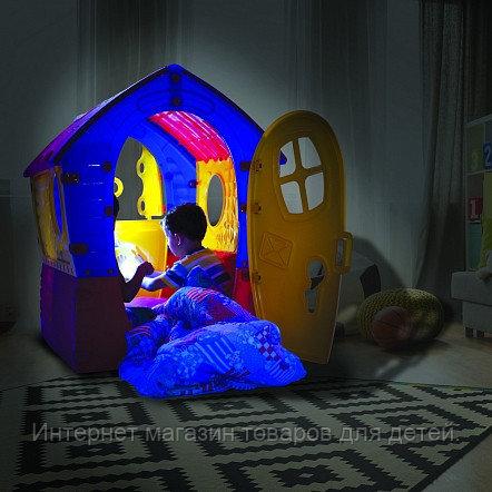 PALPLAY Игровой Домик Лилипут, со светом и звонком, Красный-зеленый-голубой/Маян (95х90х110h)