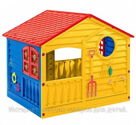PALPLAY Игровой домик, Красный/синий/желтый (140*110*117,5h)