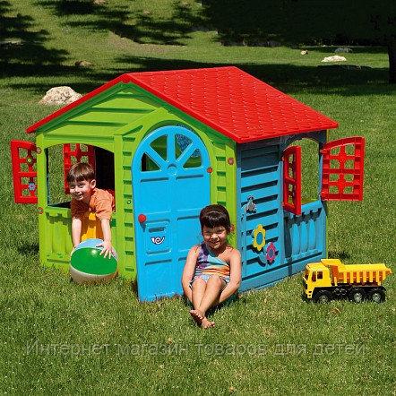 PALPLAY Игровой домик, Красный/голубой/зеленый (140*110*117,5h)