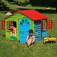 PALPLAY Игровой домик, Красный/голубой/зеленый (140*110*117,5h), фото 1
