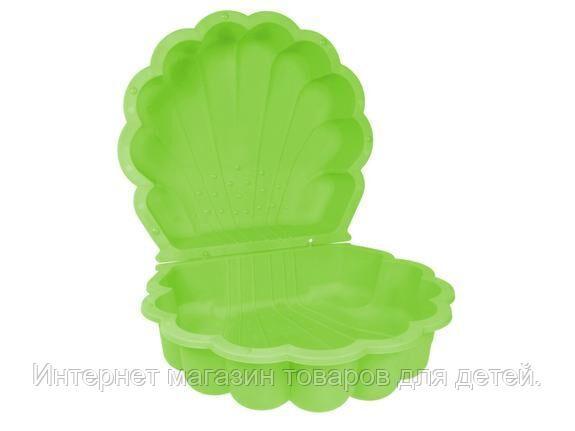 PARADISO Песочница РАКУШКА (87 x 78 x 20h) Зеленый