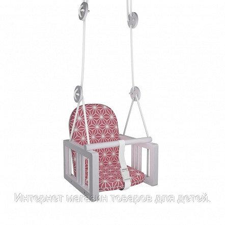 ГНОМ Качели детские подвесные LiLu розовый