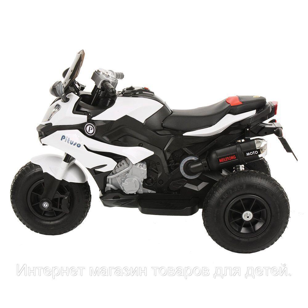 PITUSO Электромотоцикл HLX2018/2, 12V/7Ah*1,колеса надув.,108х46х76 см, White/Белый (музыка,свет)