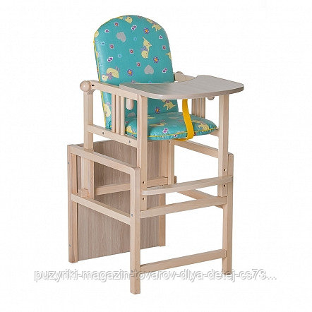 ГНОМ Стул-стол для кормления регулируемая спинка Утки зеленые