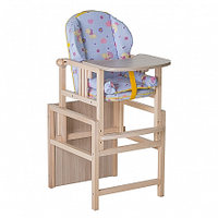 ГНОМ Стул-стол для кормления с вкладышем Утки синие