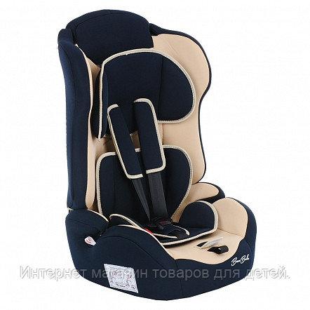 BAMBOLA Удерживающее устройство для детей 9-36 кг PRIMO Т.Синий/Бежевый 2шт/кор