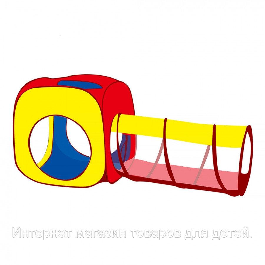 PITUSO Дом + 100 шаров Квадрат+туннель,180*70*70 см,8 шт.в кор.