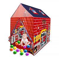 PITUSO Дом + 50 шаров Пожарная станция,85*66*95см (ПВХ каркас), 24 шт.в кор.