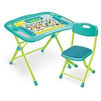 НИКА Набор мебели Пушистая Азбука стол+стул от 3 до7 лет