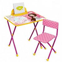 НИКА Набор мебели МАЛЕНЬКАЯ ПРИНЦЕССА (стол + мяг стул) h580