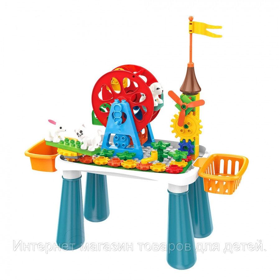 PITUSO  Стол для игры с конструктором, в компл. с конструктором (66эл.) (50*22,5*53 см)