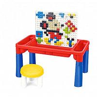 PITUSO Стол для игры с конструктором,в компл. с конструктором (164 эл.) (48*28*25), фото 1