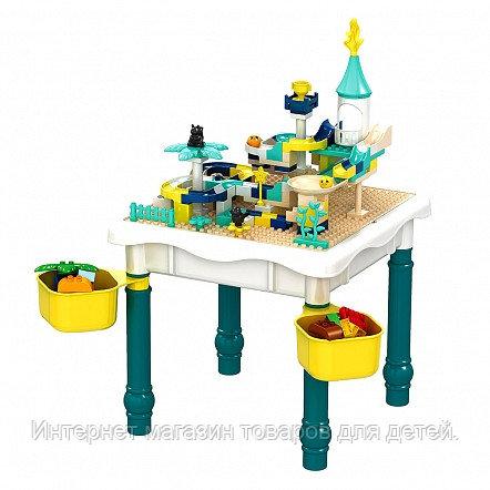 PITUSO Стол для игры с конструктором,в компл.с конструктором(121 эл.)+1 стул(47*47*42) (26*25*44)