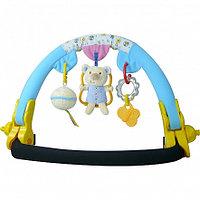 BIBA TOYS Дуга на коляску МАЛЫШКИ МИШКИ  голубой/розовый 77.5*46*35 см (в кор.12 шт.)