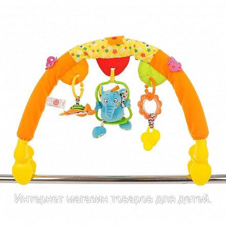 BIBA TOYS Дуга на коляску Слоненок 63*54*40 см (в кор.12 шт.)