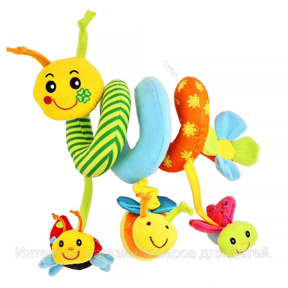 BIBA TOYS Развивающая игрушка спираль ГУСЕНИЦА И ДРУЗЬЯ 39*31*38 см (в кор.12 шт.