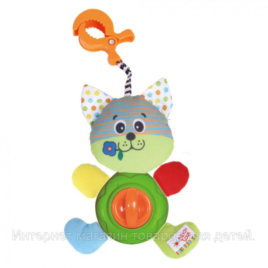 BIBA TOYS Развивающая игрушка-подвеска на клипсе Котишка-Мурлышка, 18*12 см  (в кор.24 шт.)